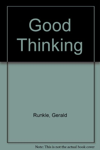 9780030581618: Good Thinking: An Introduction to Logic, 2nd edition