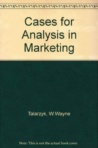9780030581793: Cases for Analysis in Marketing