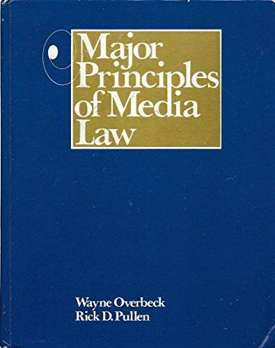 9780030582936: Major Principles of Media Law