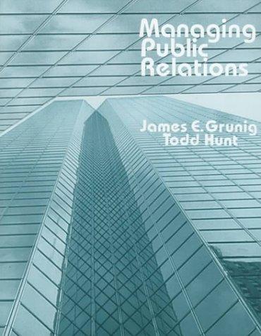 9780030583377: Managing Public Relations