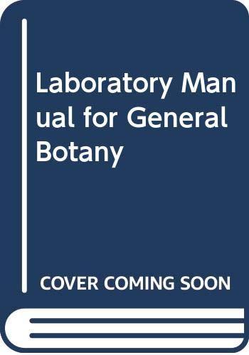 9780030585142: Laboratory Manual for General Botany