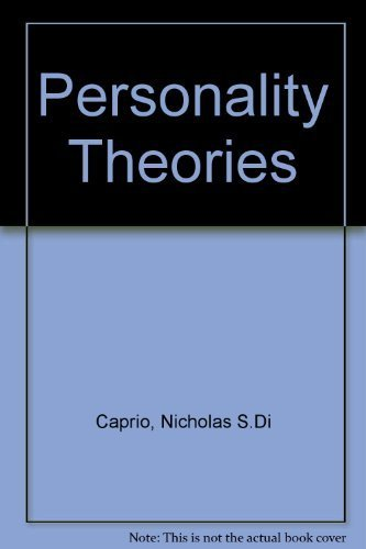 Personality Theories: A Guide to Human Nature: Dicaprio, Nicholas S.