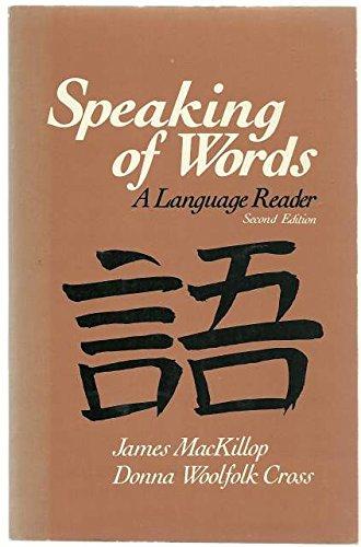 9780030591440: Speaking of Words: A Language Reader
