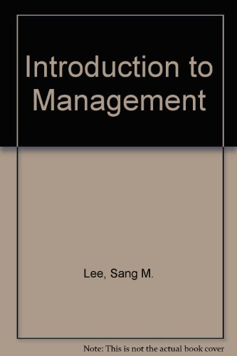 9780030591839: Introduction to Management (The Dryden Press series in quantitative methods)