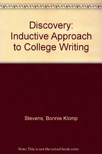 9780030592164: Discovery, an Inductive Approach to College Writing