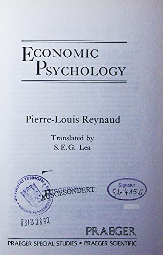 9780030592225: Economic Psychology