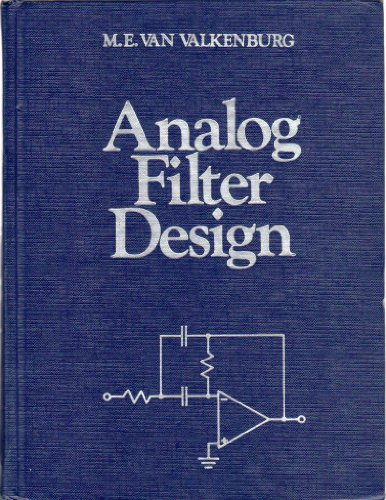 9780030592461: Analogue Filter Design (H R W Series in Electrical and Computer Engineering)