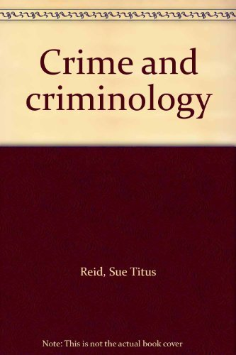 9780030592485: Crime and criminology