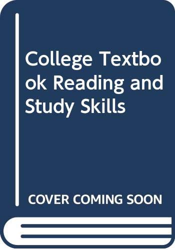 9780030594366: College Textbook Reading and Study Skills