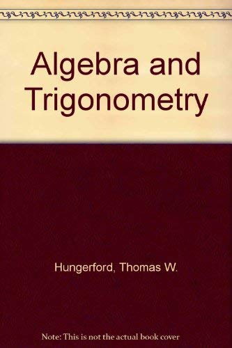 9780030595196: Algebra and Trigonometry