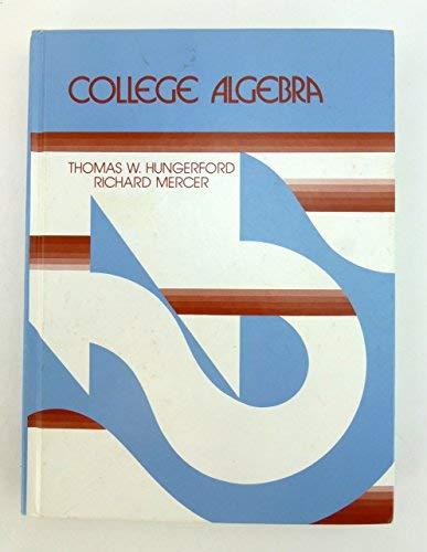 9780030595219: College Algebra
