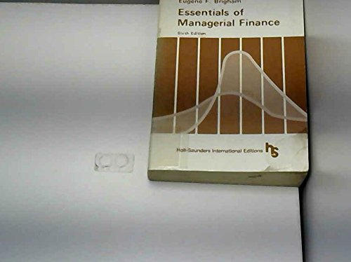 9780030595486: Essentials of Managerial Finance
