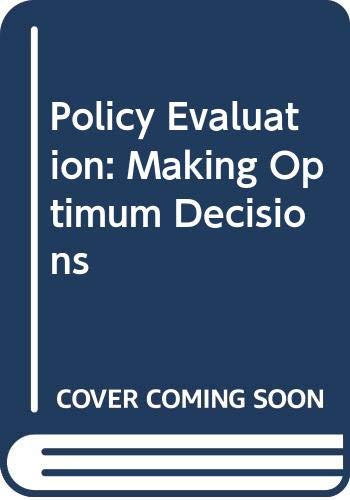 9780030596445: Policy Evaluation: Making Optimum Decisions