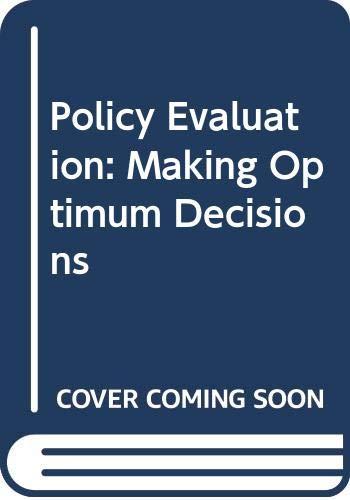 9780030596445: Policy Evaluation: Making Optimum Decisions
