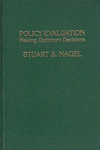9780030596469: Policy Evaluation: Making Optimum Decisions