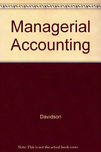 9780030597282: Managerial Accounting (Dryden Press Series in Accounting)