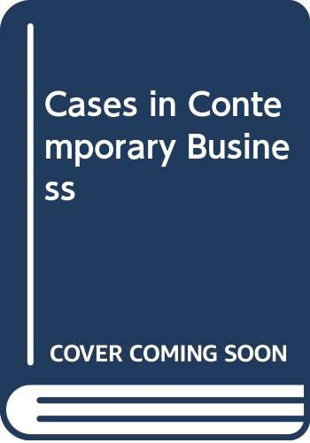 9780030597688: Cases in Contemporary Business