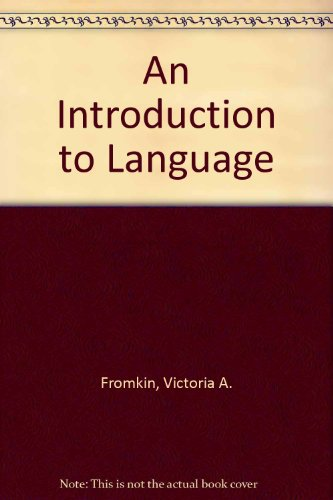 9780030597794: An Introduction to Language