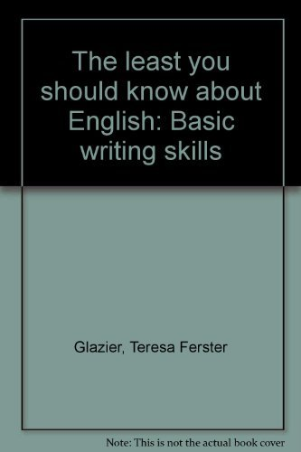 9780030597817: The least you should know about English: Basic writing skills, form A