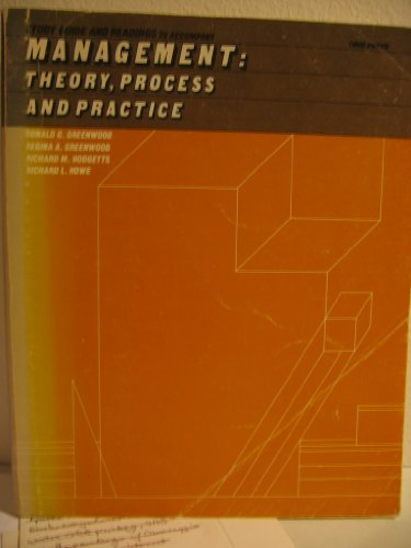 9780030598838: Study guide and readings to accompany Management: theory, process, and practice, 3rd ed