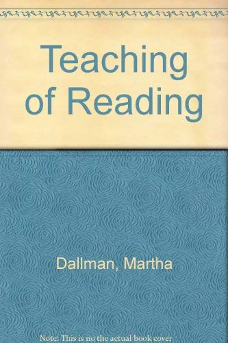 9780030598845: Teaching of Reading