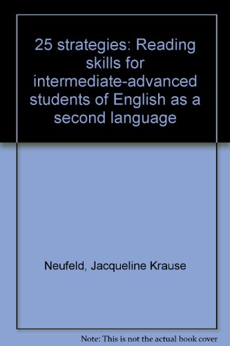 9780030599446: 25 strategies: Reading skills for intermediate-advanced students of English as a second language