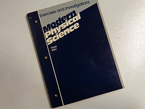 9780030599538: Modern Physical Science: Exercises and Investigations