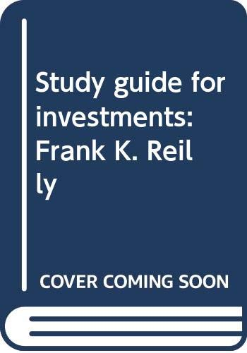 9780030601361: Study guide for investments: Frank K. Reilly