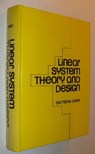 Linear System Theory and Design (Hrw Series: Chi-Tsong Chen