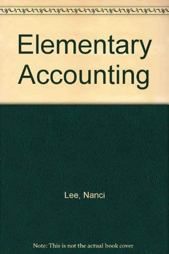 9780030604461: Elementary Accounting