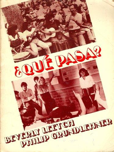 9780030605581: Qué Pasa?: A Conversation Manual (English and Spanish Edition)