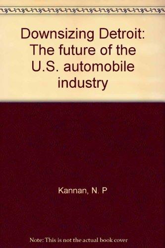 Downsizing Detroit: The Future of the U.S.: Narasimhan P Kannan,