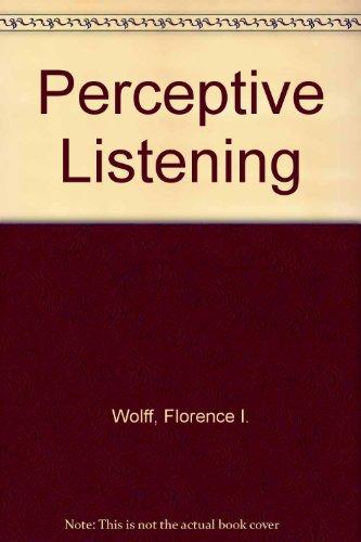 9780030613531: Perceptive Listening