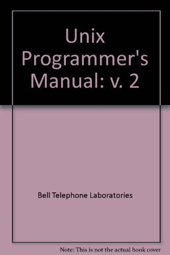 9780030617430: Unix Programmer's Manual: v. 2