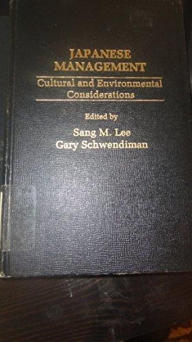 Japanese management: Cultural and environmental considerations: Sang M. &