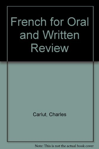 9780030623189: French for Oral and Written Review, 3rd Edition (English and French Edition)