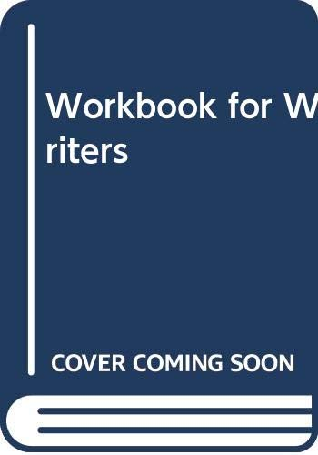 9780030623226: Workbook for Writers