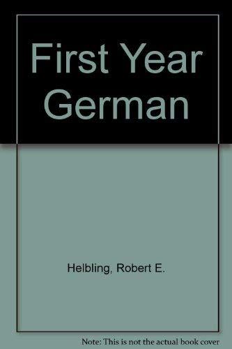 9780030625060: First-Year German