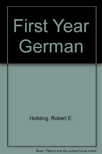 9780030625060: First-Year German