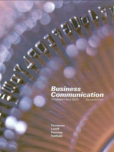 9780030625121: Business Communication: Strategies and Skills