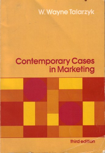 9780030626135: Contemporary Cases in Marketing (The Dryden Press series in marketing)