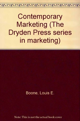 9780030626388: Contemporary Marketing (The Dryden Press series in marketing)