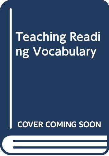 Teaching Reading Vocabulary (9780030627781) by Dale D. Johnson; P. David Pearson