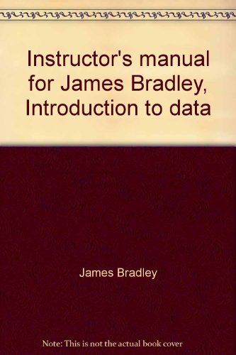 9780030628931: Instructor's manual for James Bradley, Introduction to data base management in business