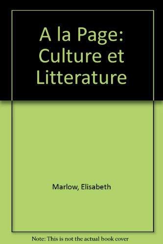 9780030632440: A LA Page: Culture Et Litterature