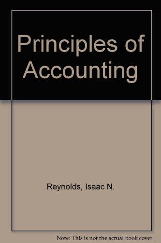9780030633133: Principles of Accounting