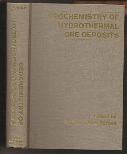 Geochemistry of Hydrothermal Ore Deposits: Hubert Lloyd Barnes