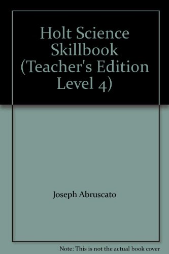 9780030634864: Holt Science Skillbook (Teacher's Edition Level 4)