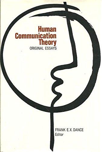9780030635151: Human Communication Theory: Original Essays