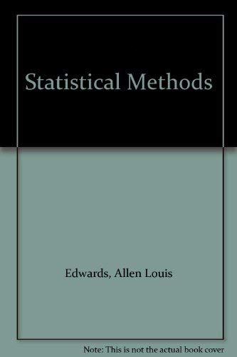 9780030635953: Statistical Methods